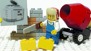 Lego Brick Building - Bunker - Inspirational DIY Satisfaction Animation