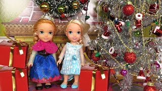 Christmas ! Elsa And Anna Toddlers   Santa  Gifts   Tree Decoration