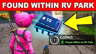 FOUND WITHIN AN RV PARK - Fortnite Fortbyte #14 Location Guide