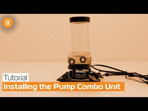 Installing the Pump Combo Unit