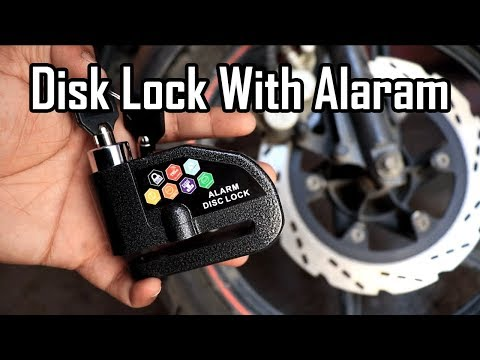 disk brake lock with alarm