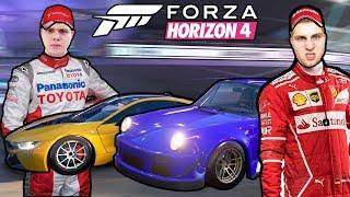 УСТРОИЛИ Б/У БАТТЛ В ФОРЗЕ!  ЭТО ЭПИЧНО! - Forza Horizon 4
