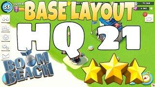 Boom Beach   HQ 21   BEST Defense Layout !!!