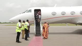 CEO OF ZYLOFON MEDIA NANA APPIAH MENSAH COMES TO KUMASI WITH HIS PRIVATE JET
