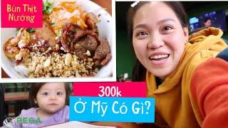 Vlog 567 ll Ăn Tô Bún Thịt Nướng 300k Ở Mỹ ??? Chủ Quán Là Chú Của Mia.