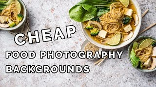 The Best Food Photography Backgrounds ON A BUDGET!