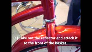 How to mount a basket to a bicycle beach cruiser bike?