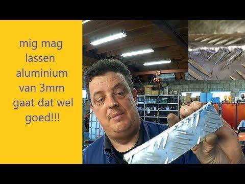 Mig aluminium lassen hoe doe je dat 3mm tranenplaat binnen en buiten hoek!!!