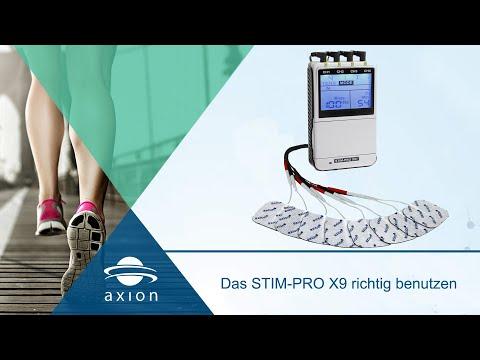 4 Kanal TENS-EMS-Kombi-Gerät mit Akku Anwendung und Lieferumfang