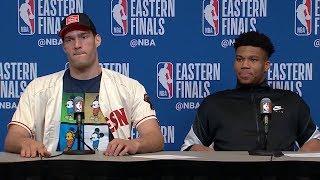 Giannis Antetokounmpo & Brook Lopez Postgame Interview - Game 1 | Raptors vs Bucks