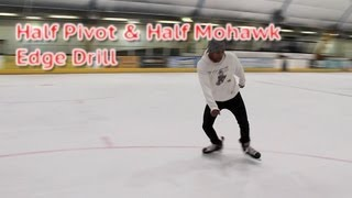 Half Pivot and Half Mohawk Ice Hockey Power Skating Edge Control Drill - Hockeytutorial.com