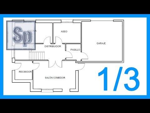 Dibujar el plano de una casa paso a paso en autocad 2015 - Como hacer un plano de una casa ...