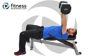 上身分裂鍛煉 - 胸部和三頭肌大眾建設鍛煉 出處 FitnessBlender