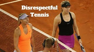 🔥HD🔥 Shocking & Disrespectful Tennis.... WTA Moments (Williams,Sharapova,Bouchard,Wozniacki)