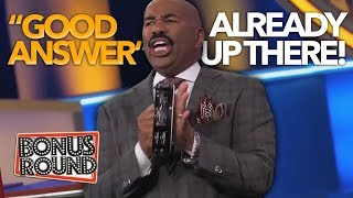 OH NO!! Steve Harvey Makes Fun Of Contestants On Family Feud US! TOO FUNNY!!