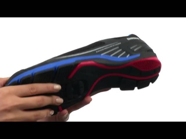 Видео Велотуфли женские Shimano SH-CW41-G зелено-черные