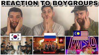 "Reaction To BOYGROUPS:ATEEZ ""ANSWER"" (KPOP) Vs. INKI ""DROP TOP"" (Russia)vs. K CLIQUE ""IMSO"" Malaysia"