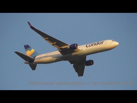 (HD) Condor Airlines Boeing 767-330ER D-ABUC On TCX821 Heading To Manchester Airport On 11/09/2019