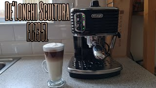 DE'LONGHI SCULTURA ECZ351   HOW TO MAKE COFFEE LATTE