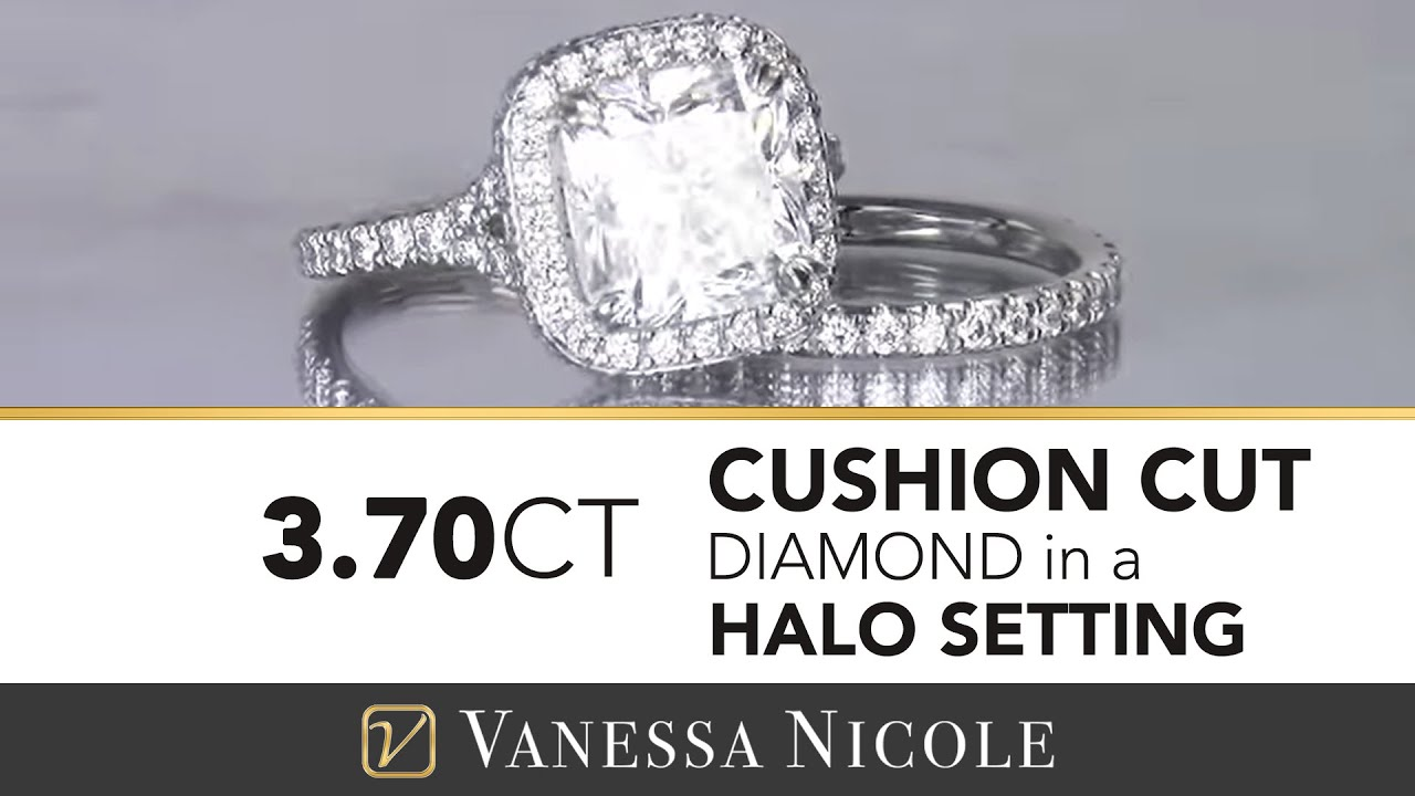 3.70ct Cushion Cut Diamond Ring