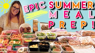 EPIC SUMMER MEAL PREP FOR HEALTHY KIDS + FAMILY | BREAKFASTS | LUNCHES | DINNERS | SNACKS 2019