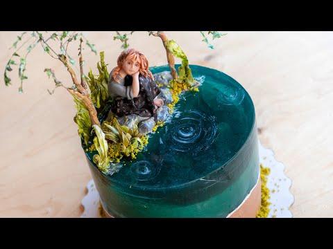 Как оформить торт Остров