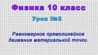 Физика 10 класс Урок 2 - Равномерное прямолинейное движение материальной точки.