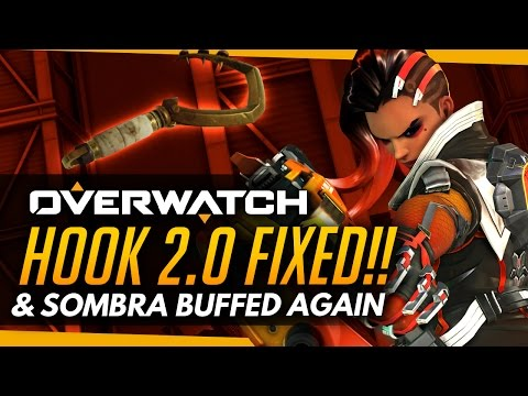 Overwatch | Hook 2.0 FIXED & Sombra BUFFED Again! - More PTR News/Changes
