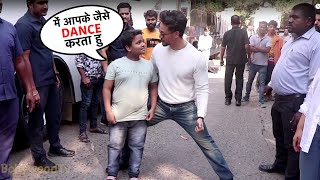 Tiger Shroff Cute Masti With His Little Fan At The Set Of Dance Plus 5 | Baaghi 3