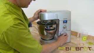 Mein BioBrot Backmischung - Zubereitung mit der Küchenmaschine