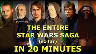 The Entire Star Wars Saga (so far) Explained in 20 Minutes!