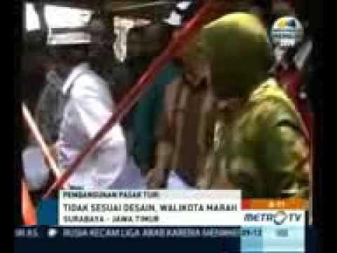 Ibu Tri rismaharini-Walikota Surabaya-Saat Sidak Dipasar Turi