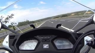 CBR 650F TOP SPEED 242kmh