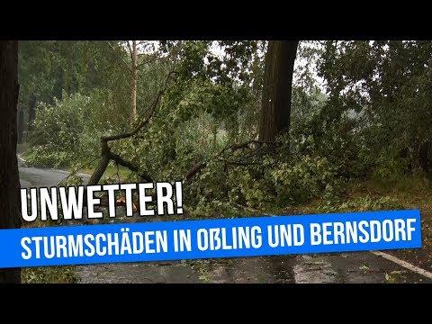 Unwetter am 02.08.2018 in Bernsdorf und Oßling