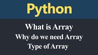 Array in Python (Hindi)
