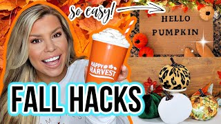 DOLLAR TREE HACKS FOR FALL 🍁 DIY Home Decor Ideas EVERYONE Should Try!