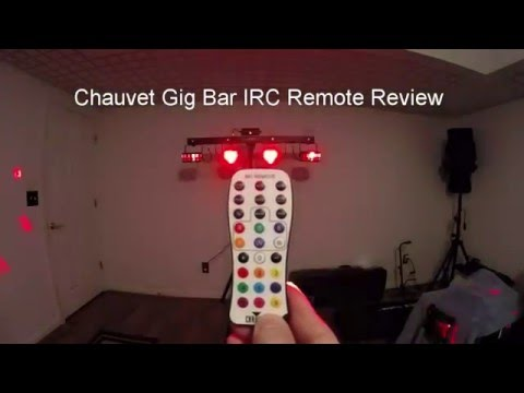 Chauvet Gigbar IRC Remote Features