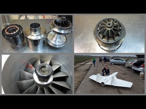 From construction of Turbo Jet engine to first flight - (In Russian with subtitles)