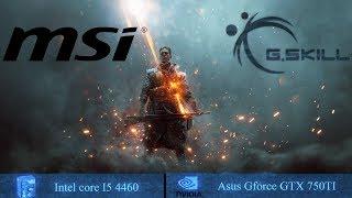 Battlefield 1 | Intel core i5 4460 | GTX 750TI 2GB | Ultra | High | Medium | Low | costume settings