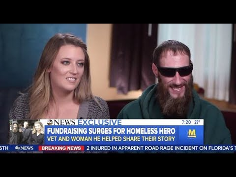 Fundraising Efforts Surge For Homeless Vet - GMA Interview