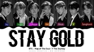 BTS - 'STAY GOLD' Lyrics Color Coded (Kan/Rom/Eng)