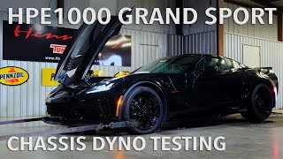 HPE1000 Supercharged Grand Sport Corvette Dyno Testing