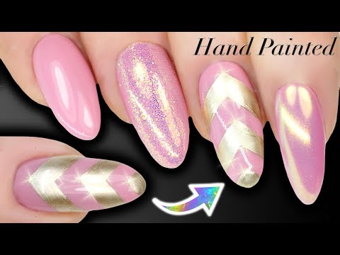 HOW TO HAND PAINT CHEVRONS - Nail Art For Beginners - ZIG ZAGS (Skills Building)