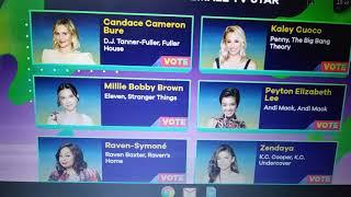 2019 Kids Choice Awards voting