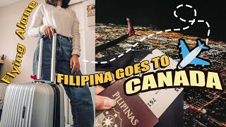 MY FIRST TIME TO TRAVEL ALONE!! | Filipina Goes To CANADA (NAKAKAKABA BES!) | Benicey