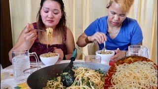 SPAGHETTI BOLOGNESE NEPALI STYLE   COOKING AND EATING  NEPALI MUKBANG 2019