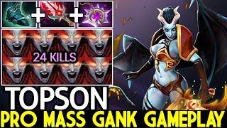 TOPSON [Queen of Pain] Insane Burst Damage Mass Gank Gameplay Meta 7.21 Dota 2