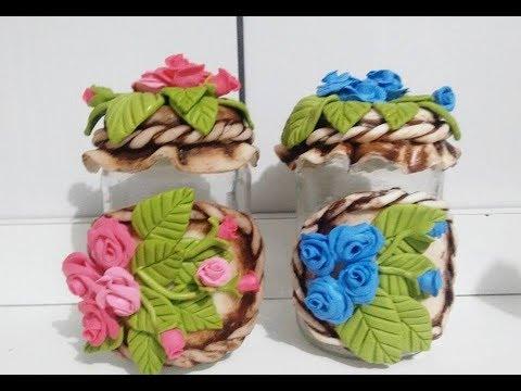 Rosas em potes