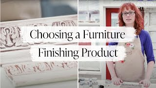 How To Seal & Finish Painted Furniture | Choosing Metallic Cream, Wax Or Glaze For Your DIY Project