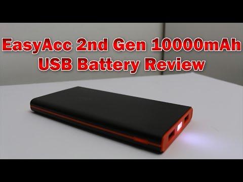 Best Cheap USB Battery Pack? –  EasyAcc 2nd Gen 10000mAh Power Bank Review